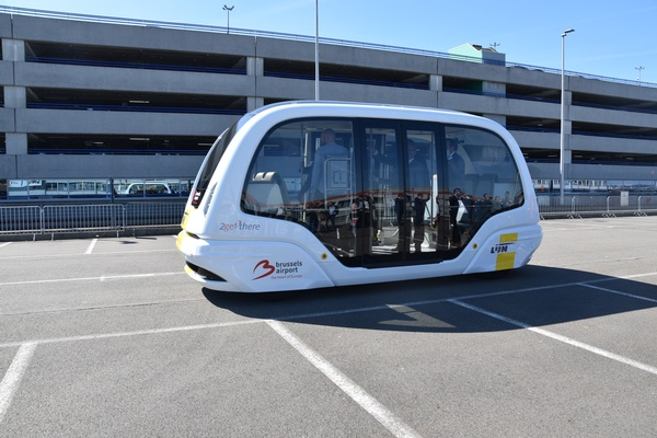 Self-driving shuttle project off to a start at Brussels Airport